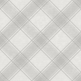 A light grey subtle tartan wallpaper sample.
