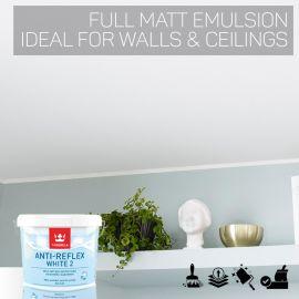 Tikkurila Anti Reflex White 2 Full Matt for Walls & Ceilings
