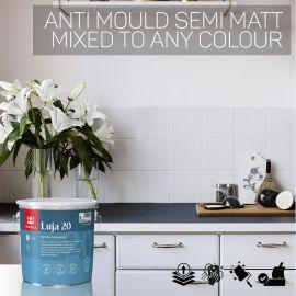 Tikkurila Luja 20 Scrubbable Semi-Matt for Bathrooms & Wall Tiles - Colour Match