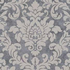 Diamonds Glitter Damask Wallpaper