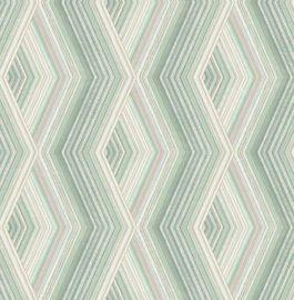 Aura Geo Wallpaper Green