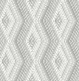 Aura Geo Wallpaper Silver