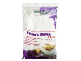 Axus Tex Palm-Coated Painters White Gloves 3 Pack