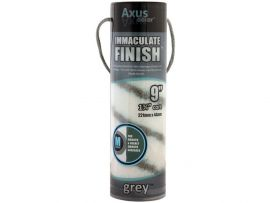 Axus Grey Immaculate Finish Roller Sleeve Medium For Smooth And Nearly Smooth Surfaces 9""
