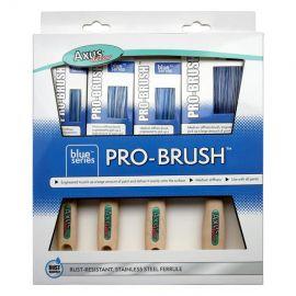 Axus Blue Pro Brush Set - 4 Pack