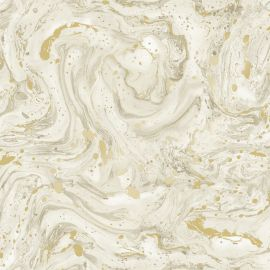 A gold marble design with golden metallic designs throughout.