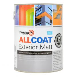 Zinsser AllCoat® Interior & Exterior Matt - Colour Match (LIMITED STOCK IN LARGER SIZES - AVAILABLE TO BACK ORDER)