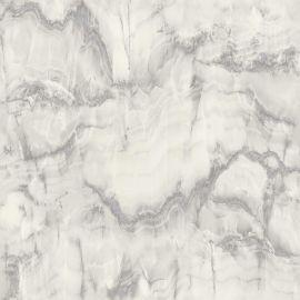Crown Aura Marble Design Wallpaper - Silver