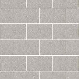 London Tile Glitter Wallpaper Grey