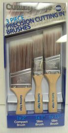 Cutting Edge Angled Brush (3 pack)