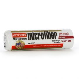 """Wooster 9"""" MicroFiber Roller Sleeve 9/16"""" Nap Medium Pile"""