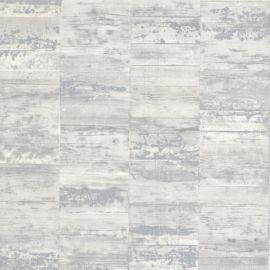 Erismann Brick Shine Effect Wallpaper White & Silver