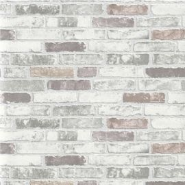 Erismann Brix Brick Unlimited Wallpaper Grey