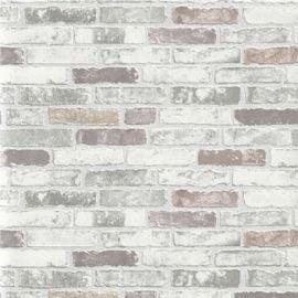 Erismann Brix Brick Unlimited Wallpaper Grey