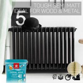 Tikkurila Everal Aqua 40 Tough Semi Matt for Wood & Metal - Colour Match