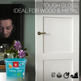 Tikkurila Everal Aqua 80 Tough Gloss for Wood & Metal - Colour Match