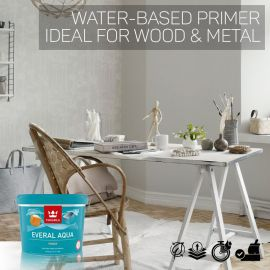 Tikkurila Everal Aqua Wood & Metal Primer - Colour Match