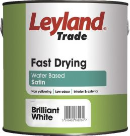 Leyland Fast Drying Satin Brilliant White 750ml