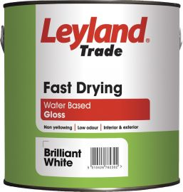 Leyland Fast Drying Gloss Brilliant White 750ml
