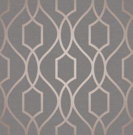 Apex Trellis Metallic Wallpaper