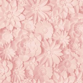 Dimensions Floral 3D Wallpaper Rose Pink