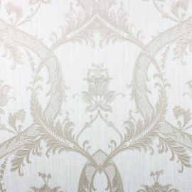Milano Textured Glitter Damask Wallpaper Beige