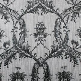 Milano Textured Glitter Damask Wallpaper Black & Grey