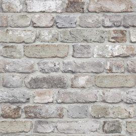 Facade Brick Wallpaper Grey, a realistic brick wallpaper in grey tones.