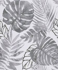 Gravity Botanical Leaf Wallpaper Black & White