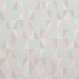 Geometric Triangle Tile Wallpaper Grey