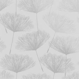 Glistening Fleur Wallpaper - Grey