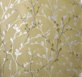 Glitter Willow Wallpaper - Ochre