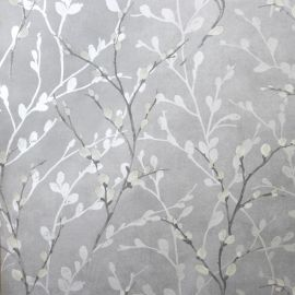 Glitter Willow Wallpaper - Silver