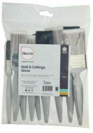 Harris Essentials Wall & Ceilings Gloss No Loss Brush Set (10 Pack)