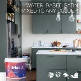 Tikkurila Helmi 30 Water-Based Satin for Woodwork - Colour Match