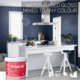 Tikkurila Helmi 80 Water-Based Gloss for Woodwork - Colour Match