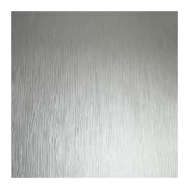 Shay Stripe Metallic Textured Wallpaper Silver
