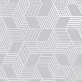 Astonia Geometric Stripe Wallpaper Grey