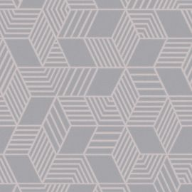 Astonia Geometric Stripe Wallpaper Rose Gold