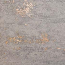 Gravity Stone Effect Textured Metallic Wallpaper Grey & Rose Gold