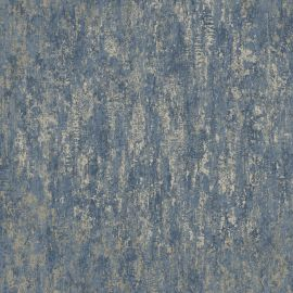 Industrial Texture Metallic Wallpaper Navy