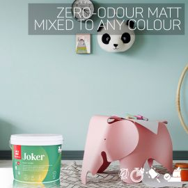 Tikkurila Joker Zero-Odour Matt for Walls & Ceilings - Colour Match