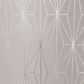 A geometric design with a blush pink background.