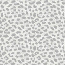 Leopard Animal Print Metallic Wallpaper
