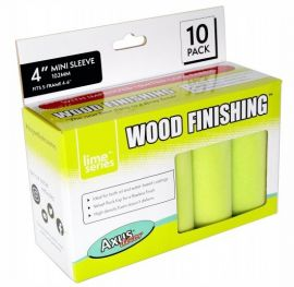 "Axus Lime Series Wood Finishing Mini Roller Sleeves 4"" (102mm) 10pk - AXU/RL410"