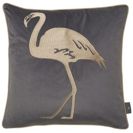 Malini Flamingo Grey Cushion