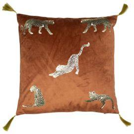 Malini Feline Rust Cushion