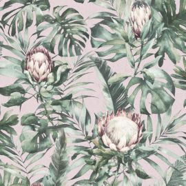 Nia Botanical Wallpaper - Dusky Pink