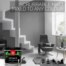 Tikkurila Optiva 5 Scrubbable Matt for Walls & Ceilings - Colour Match