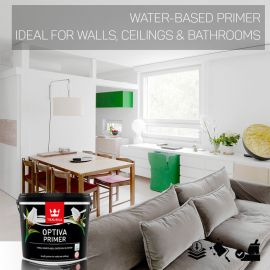 Tikkurila Optiva Water-Based Primer for Walls & Ceilings - Colour Match